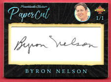 2020 Byron Nelson President's Choice Solitaire 1/1 Auto PaperCut