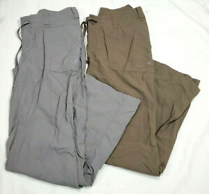 North Face Horizon Tempest Roll Up Pants Womens 4 Two Pair Packable Brown Gray