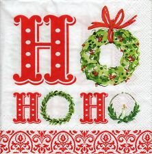4x PAPER NAPKINS for Decoupage X-MAS HOHOHO Ho Ho Ho Christmas