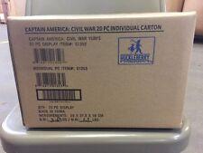 Captain America Civil War Figurines, Sealed Retail Case Of 24 Figures Yubi