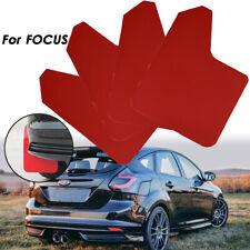 Fango rojo Solapas Splash guardias para Ford Focus ST RS mudflaps mudguard fender 4Pcs