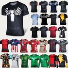 New Marvel Superhero Mens T-Shirts Compression Layer Sports Tops Cycling Jersey