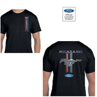 Ford Mustang Classic Racing Licensed TEE SHIRT Front & Back Designs