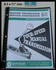 1965-1966 Mopar 4-spd Transmission New Tech Manual Plymouth Dodge Service 1967
