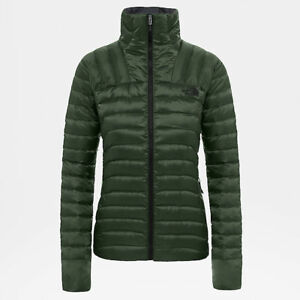 The north face ladies Ashton FZ jacket metallic green large L puffer bubble bnwt