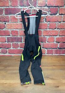 Castelli Rosso Corsa Full Length Winter Bibs Thermal Cycling Bib XL Black  Mens