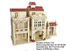 New Assembly DIY Education Toy 3D Wooden Model Puzzles Of Guangzhou Arcade House