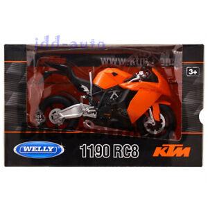 WELLY KTM 1190 RC8 1/10 DIECAST MOTORCYCLE MODEL ORANGE 62806W