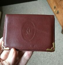 VINTAGE CARTIER SMALL LEATHER CARD HOLDER
