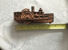 "RARE Antique Cast Iron Steamboat Ship 5 1/2""Long"