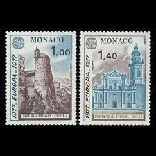 Monaco 1977 - EUROPA Stamps - Landscapes - Sc 1067/8 MNH