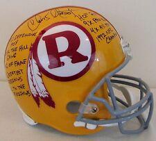 Chris Hanburger 9 Inscription Redskins Full Size Stat Helmet - Direct From Agent
