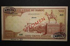 1951 Morocco Maroc 500 Francs Banknote Specimen TDLR P45A