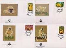 Bhutan 1984 World Wildlife Fund Golden Langur Monkey - 4 First Day Covers  (131)