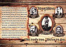 Wyatt Earp, Doc Holliday etc Gunfight OK Corral Tombstone Arizona 1881, Postcard