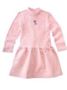NEW Gymboree Girls CLASSROOM KITTY - SZ 4 -Pink Cat DRESS - NWT - Christmas