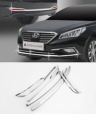 Chrome Fog Lamp Rear Bumper Garnish 6p 1set For 2015 2016 Hyundai Sonata LF