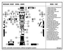 Real Carbon Fiber Dash Kit for 350Z 06-09  Automatic Trans- full kit- NSN-10C