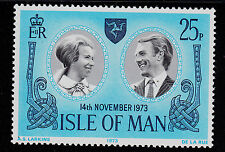 ISLE OF MAN   SCOTT# 35   MNH   WEDDING PRINCESS ANNE AND CAPT. MARK PHILLIPS