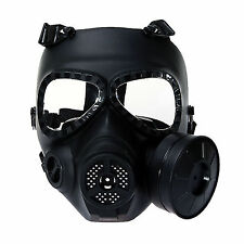 Tactical Anti-Fog Full Face Mask Head Paintball Airsoft Military Training Games