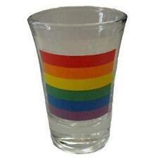 Gay Pride Rainbow Flag Fluted Shot Glass Barware Bar Lgbtq
