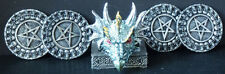 BLUE SHIELD   Dragon Head Holding  4 Coasters   H4""