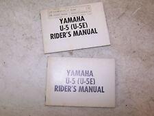 YAMAHA U5E OWNER SERVICE MANUAL U5 E pw