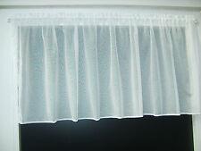 Scheibengardine Breite wählbar 60cm hoch/lang Gardine Weiß Scheibengardine