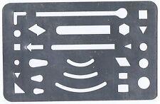TECHNICAL - DRAFTING  - DRAWING - ARTIST - ERASING SHIELD - 90mm x 58mm