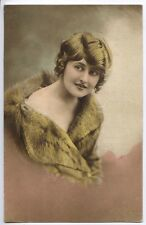 (M89) Glamour Girl with Off the Shoulder Fur Coat  1907 - Used