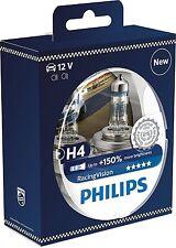 2 Bombillas Philips Racing Vision H4 150% RacingVision Xtreme Extreme Coche Moto