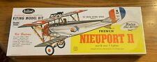 Guillows French Nieuport 11 Flying Balsa Wood Sealed Military WWI fighter model