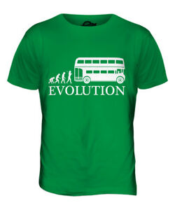 OLD LONDON BUS DRIVER EVOLUTION MENS T-SHIRT TEE TOP GIFT GIFT S HAT