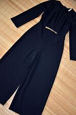 HALLHUBER schöner Stretch Overall Jumpsuits Gr. 38 / UK 10 neu Schwarz Culotte