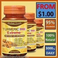 TURMERIC PILLS 95% CURCUMINOID LONGA LINN ARTHRITIS ANTIOXIDANT ANTIINFLAMMATORY
