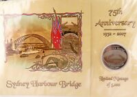 .2007 75TH ANNIVERSARY SYDNEY HARBOUR BRIDGE L/EDITION COOK ISLANDS 50C PACK.