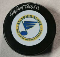 St. Louis Blues Jean Guy Talbot Signed Autographed Hockey Puck Auto NHL