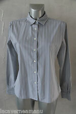 jolie chemise rayée bleue femme FACONNABLE taille 40 (usa 8)   EXCELLENT ÉTAT