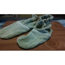 GREEN WOMEN'S BOOTIES FOOTIES  SLIPPERS by DUCKY COTTON SIZE L