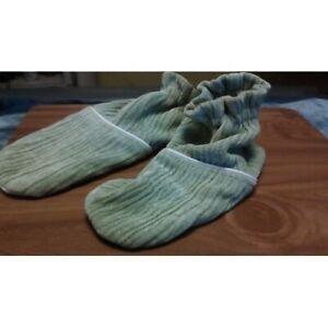 GREEN WOMEN'S BOOTIES FOOTIES  SLIPPERS SOCKS by DUCKY COTTON SIZE L