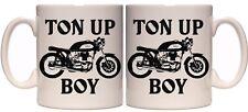 Ton Up Boy Cafe Racer, 110z Taza Regalo De Motocicleta Garaje