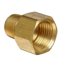 "1/2"" Female NPT to 3/8"" Male NPT Brass Pipe Fitting Adapter Screw Connector"