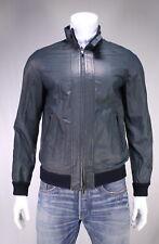 NWT New * KITON * $10,000 Dark Blue Lambskin Leather Bomber Jacket 40/Medium