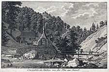 Niklaus von Flüe - Einsiedelei Ansicht Kupferstich 1820 - Original!