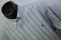 25506 Mens Polo Ralph Lauren Classic Long Sleeve Striped Dress Shirt Size Large