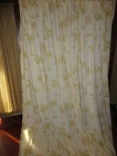 WAVERLY GOLD & GREEN PALM TREES TROPICAL (PAIR) UMLINED PANELS CURTAINS 52 X 80