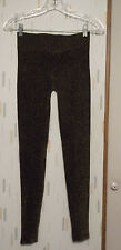 Sold Out Rare New Forever21 Juniors XS Gold Metallic Stretch Knit Long Leggings