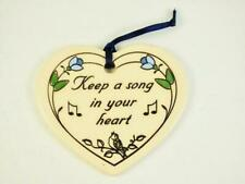 """Trinity Pottery USA """"Keep a song in your Heart"""" Heart Ornament"""