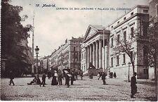 Spain Madrid Carrera de San Jeronimo y Palacio del Congreso old unused postcard