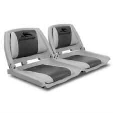 Set of 2 Swivel Folding Marine Boat Tinny Fishing Boat Seats UV Grey Charcoal